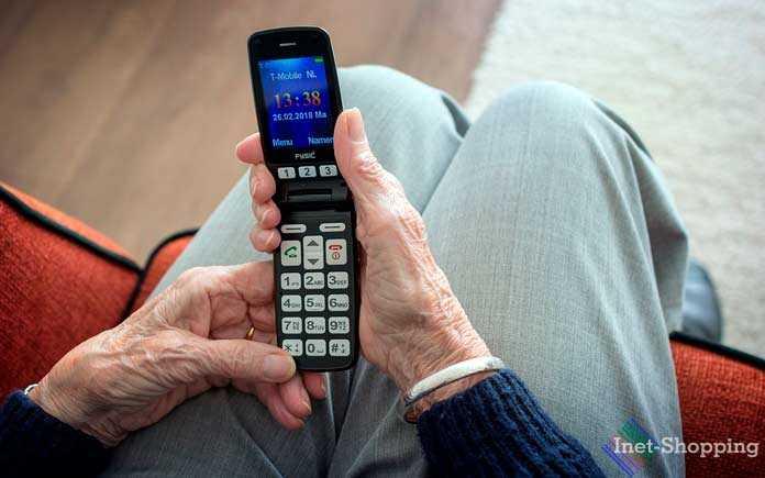 кнопочный телефон для пожилых людей