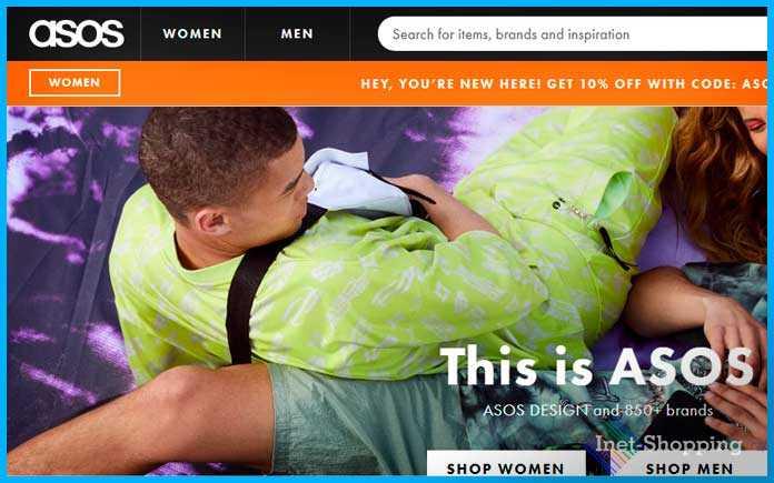 интернет магазин обуви Asos