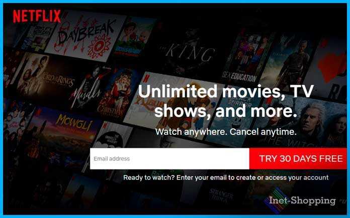 онлайн-кинотеатр Netflix